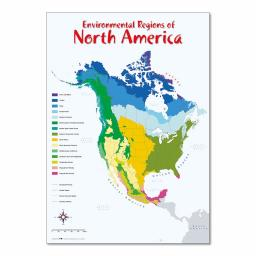 Environmental Regions of North America Map