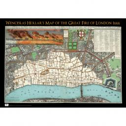 London 1600 Map.Great Fire Of London Map