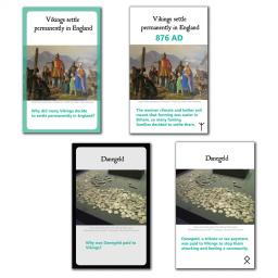 Vikings in Britain Interactive Timeline - Classroom Cards