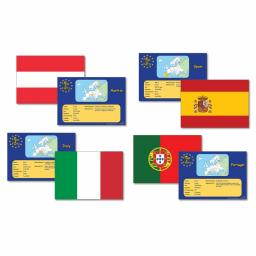 European Flags & Facts Cards