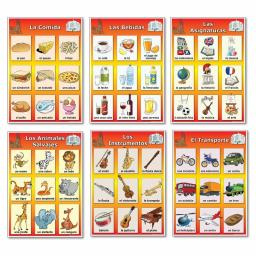 Spanish Vocabulary Poster Bundle