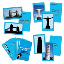 Geography Match - Landmark Silhouettes