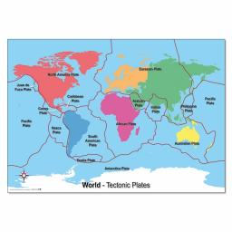 Tectonic Plates World Map