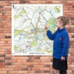 Our School Playground Signs - OS map