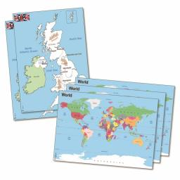 UK & World Deskmat Set