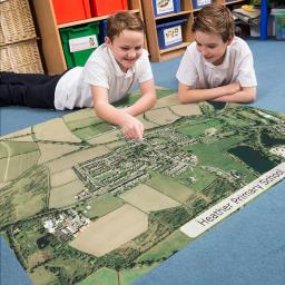Our School Playmat - Aerial