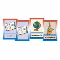 French School Subject, Classroom Objects & Musical Instruments Flashcards
