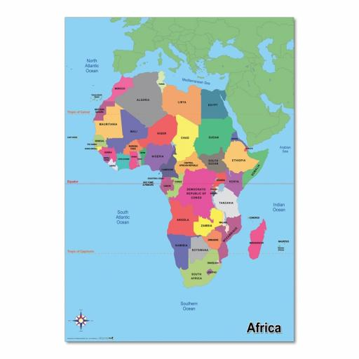 Simple Map of Africa
