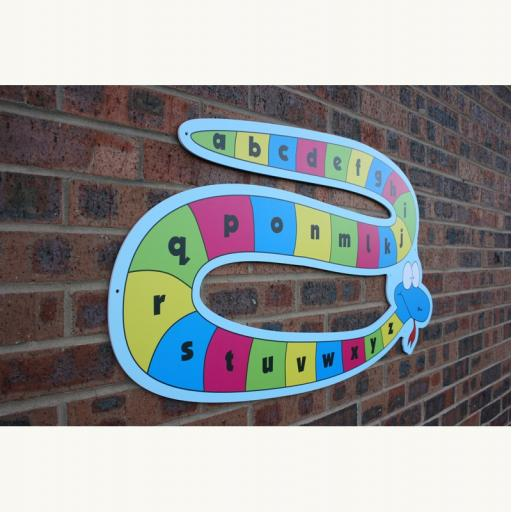 Alphabet Snake Outdoor Board