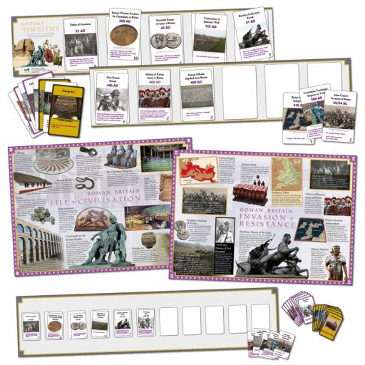 Roman Britain Interactive Timeline (Class Pack)
