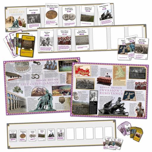 Roman Britain Interactive Timeline (Class Pack)