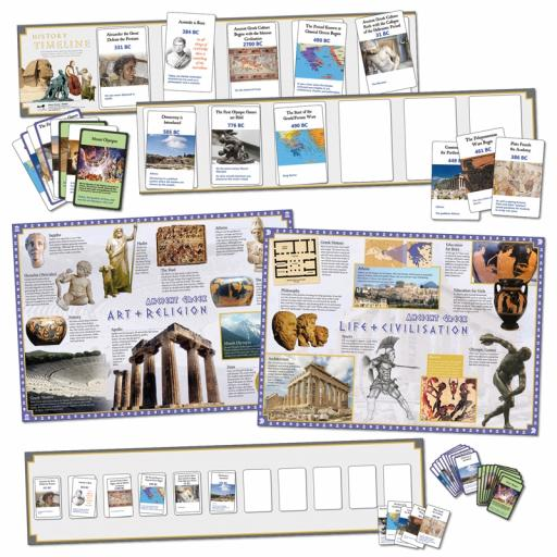 Ancient Greece Interactive Timeline (Class Pack)
