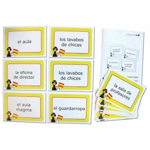 Spanish School Labels