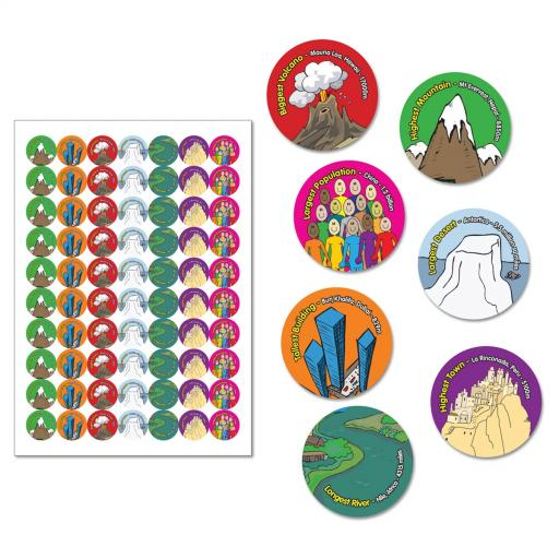 'Top Geographer' Reward Stickers