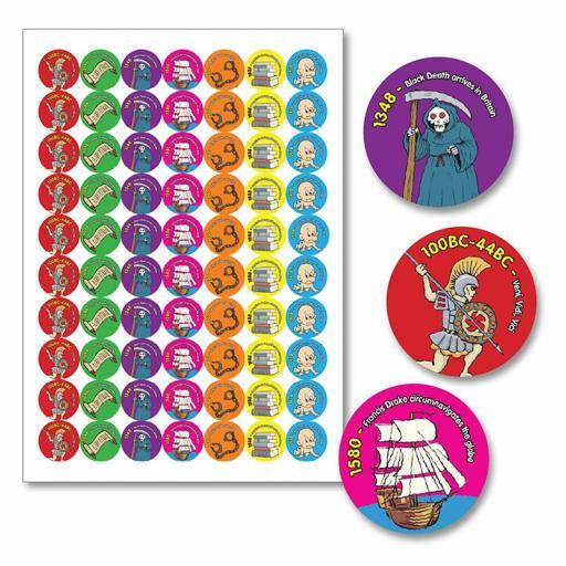 History Hero Reward Stickers