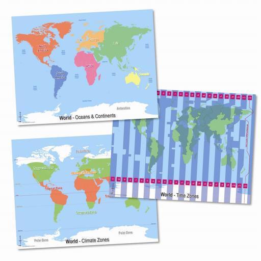 3 World Maps