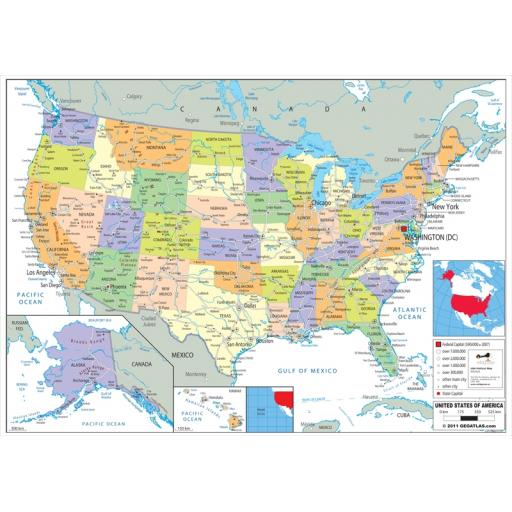 USA Political Map