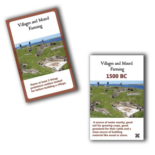 Stone Age to Iron Age Interactive Timeline - Classroom Cards