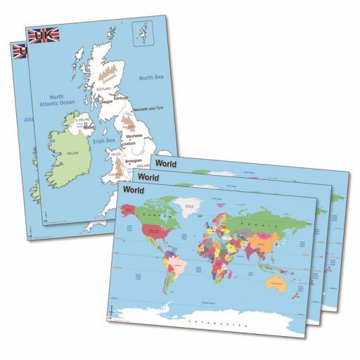 UK & World Deskmat Set