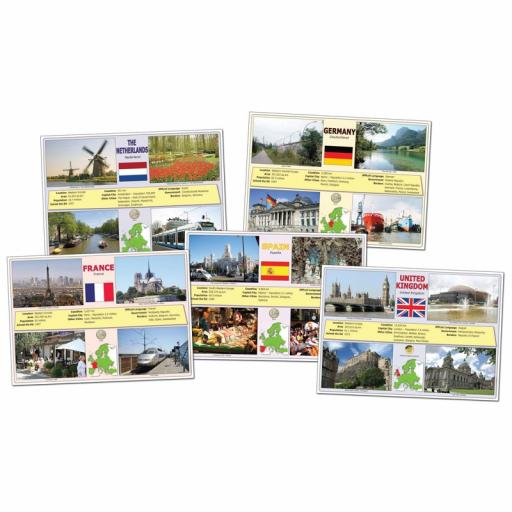 Set of 10 European Union Deskmats