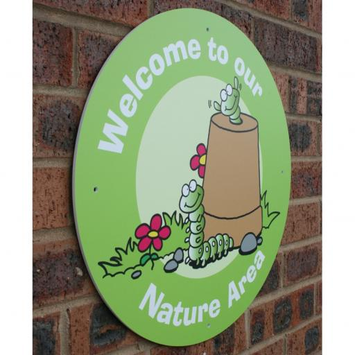 Nature Area Welcome Circle Outdoor Board