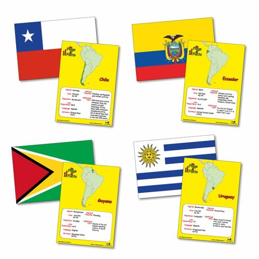 Flags and Facts South America