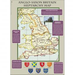 The Anglo-Saxons Heptarchy Map