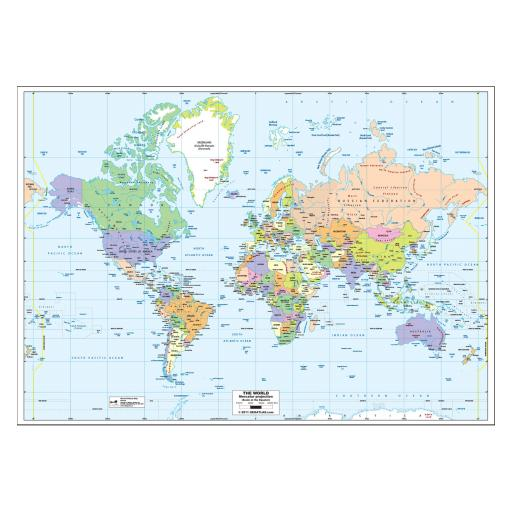 World Political Map - Laminated