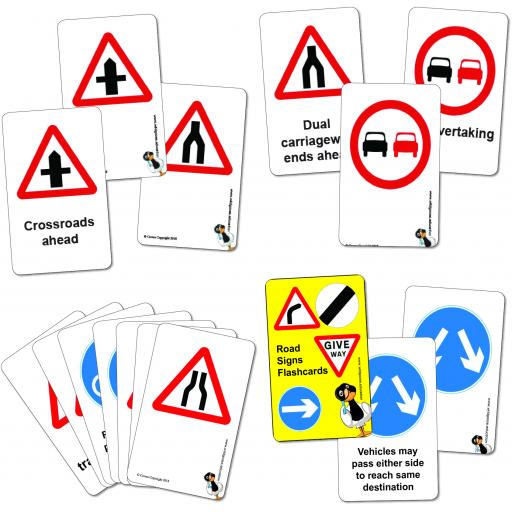 Road Sign Flashcards - Warning and Regulatory Set