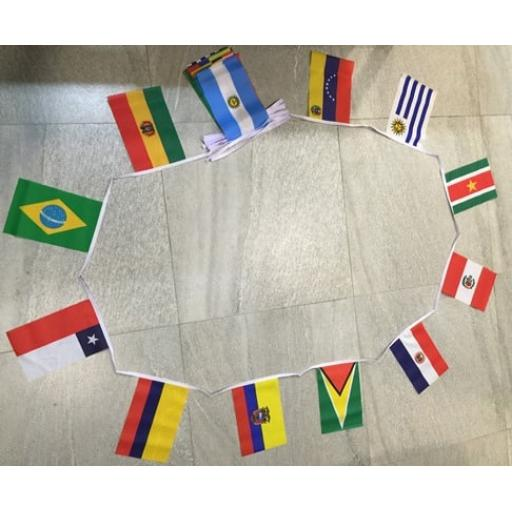 South American Countries Bunting