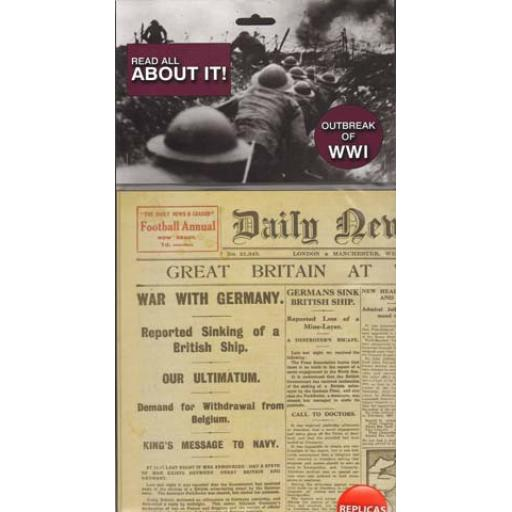 World War One Replica Newspaper