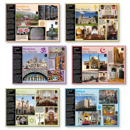 Places of Worship Poster Set
