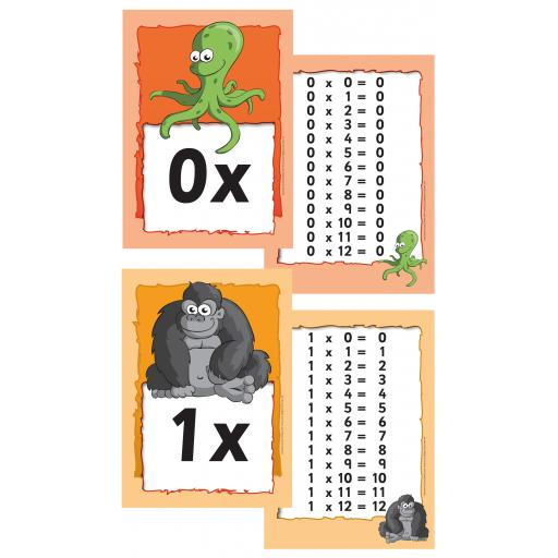 Maths Multiplication Zoo Flashcards